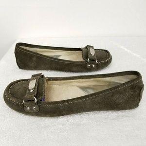 Michael Kors Gray Leather Flats Loafers Mocs SZ-9M